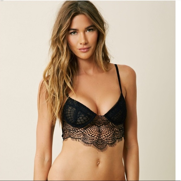 bc7f71bf26 For Love And Lemons Other - For Love   Lemons Black Skivvies Lace Bra